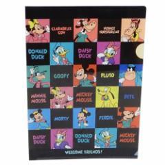 ミッキー & フレンズ ファイル A4 シングル クリアファイル 2120666 ディズニー 新学期準備雑貨 キャラクター グッズ メール便可