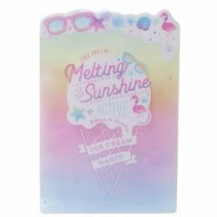 子供 文房具 デスクパッド ダイカット 下敷き Melting Sunshine ICE POP 女の子向け 文房具 ステーショナリー グッズ メール便可