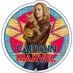 キャプテンマーベル ビッグ シール ダイカット ステッカー Cタイプ マーベル コレクション雑貨 キャラクター グッズ メール便可