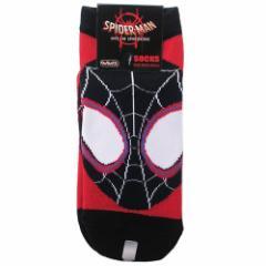 スパイダーマン:スパイダーバース 女性用 靴下 レディース ソックス マイルズモラレス マーベル 23〜25cm メール便可