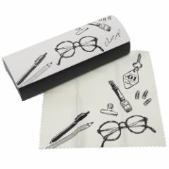 眼鏡ケース デイリーグッズ クリーナークロス付 メガネケース ハードタイプ かわいい グッズ
