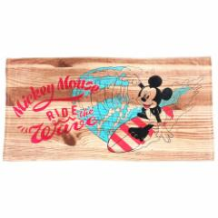 大判 バスタオル ミッキーマウス ビーチタオル レジャー バスタオル ウッドサーフ ディズニー 70×140cm キャラクター グッズ