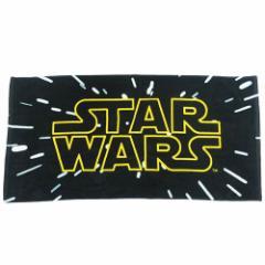 スターウォーズ 大判 バスタオル ビーチタオル レジャー バスタオル タイトルロゴ STAR WARS 70×140cm キャラクター グッズ