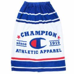 チャンピオン ラップタオル 80cm 丈 巻き巻きタオル マルチボーダー Champion 夏物 レジャー 用品 スポーツブランド グッズ