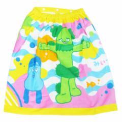 水泳 タオル 子供 ラップタオル 60cm 丈 巻き巻きタオル みいつけた うみのいきもの NHK スイミング 水泳 レジャー 用品