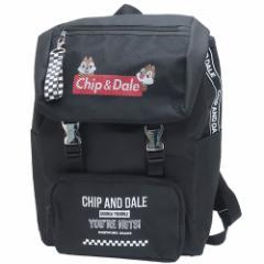 チップ&デール デイパック メッシュポケット付き かぶせ リュック ディズニー 32×45×16cm キャラクター グッズ