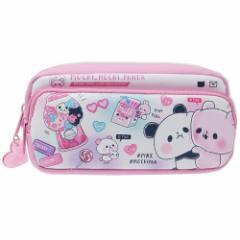 もちもちぱんだ 筆箱 ポケット付き BOX ペンケース カラーテーマ ピンク 新学期準備雑貨 キャラクター グッズ