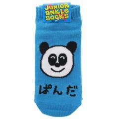 ぱんださん 子供用 靴下 ジュニア アンクル ソックス 18〜22cm かわいい グッズ メール便可