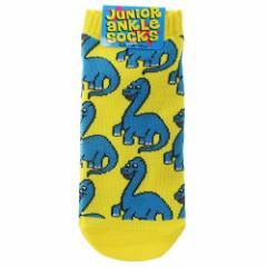 ブラキオサウルス 子供用 靴下 ジュニア アンクル ソックス 恐竜 18〜22cm かわいい グッズ メール便可