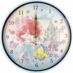 リトルマーメイド アリエル 壁掛け時計 インデックス ウォールクロック FUN TIME ディズニープリンセス 新生活準備雑貨