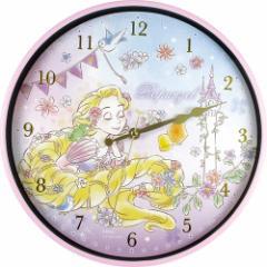 塔の上のラプンツェル 壁掛け時計 インデックス ウォールクロック FUN TIME ディズニープリンセス 新生活準備雑貨 キャラクター グッズ