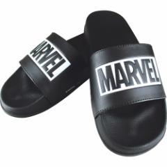 MARVEL ロゴ サンダル シャワー サンダル ブラック×ブラック マーベル 男女兼用 キャラクター グッズ