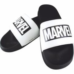 MARVEL ロゴ サンダル シャワー サンダル ブラック×ホワイトA マーベル 男女兼用 キャラクター グッズ