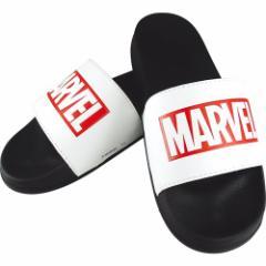 MARVEL ロゴ サンダル シャワー サンダル ブラック×ホワイトB マーベル 男女兼用 キャラクター グッズ