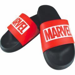 MARVEL ロゴ サンダル シャワー サンダル ブラック×レッド マーベル 男女兼用 キャラクター グッズ