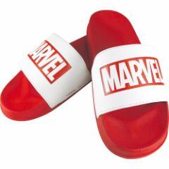MARVEL ロゴ サンダル シャワー サンダル レッド×ホワイト マーベル 男女兼用 キャラクター グッズ