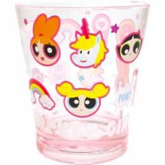 パワーパフガールズ プラコップ カラークリスタル カップ POPピンク 新生活準備雑貨 キャラクター グッズ