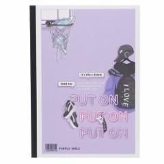 横罫 ノート 2019年 新入学文具 B5 学習 ノート PURPLE GIRLS 新学期準備雑貨 かわいい グッズ メール便可