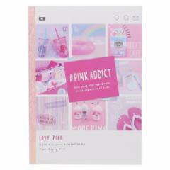 横罫 ノート 2019年 新入学文具 B5 学習 ノート PINK ADDICT 新学期準備雑貨 かわいい グッズ メール便可