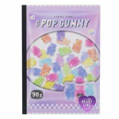 横罫ノート LOLLIPOP PARTY B5 学習 ノート POP GUMMY   新学期準備雑貨 かわいい グッズ メール便可