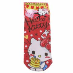 ハローキティ 女性用 靴下 レディース ソックス ホットケーキ サンリオ 22〜24cm キャラクター グッズ メール便可