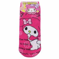 マイメロディ 女性用 靴下 レディース ソックス ビビッドピンク サンリオ 22〜24cm キャラクター グッズ メール便可