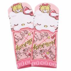 ハローキティ 女性用 靴下 レディース 耳付き ソックス キュートスリープ サンリオ 22〜24cm キャラクター グッズ メール便可