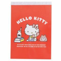 ハローキティ メモ帳 A6 メモ 45周年アニバーサリー サンリオ 2019年 入学準備 キャラクター グッズ メール便可