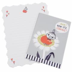 ムーミン 手紙セット レターセット フラワー 北欧 便箋 封筒 キャラクター グッズ メール便可