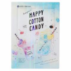 下敷き 2019 新入学新学期準備 Everyone's Happy Bottle COTTON CANDY 筆記用具 ステーショナリー グッズ メール便可