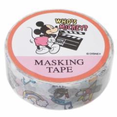 ミッキー&フレンズ マスキングテープ 15mm マステ 2019SS ディズニー かわいい キャラクター グッズ メール便可