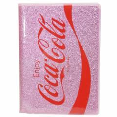 コカコーラ リング ノート グリッター A6 Wリング ノート ピンク 新学期準備雑貨 キャラクター グッズ