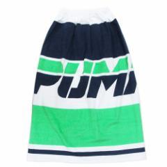 PUMA プーマ ラップタオル 80cm 巻き巻きタオル グリーン 男の子向け 80×120cm スポーツブランド グッズ