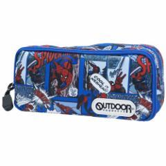 マーベル 筆箱 ツインファスナー ボックス ペンケース スパイダーマン OUTDOOR 新入学 新学期準備 コラボ グッズ