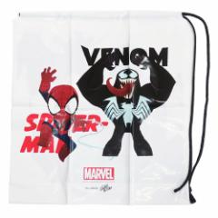 マーベル 巾着 PE きんちゃくバッグ スパイダーマン&カーネイジ ポリバッグ キャラクター グッズ メール便可
