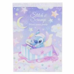 リロ&スティッチ メモ帳 A6メモ パジャマパーティー 星空の夜 ディズニー 新入学 新学期準備 キャラクター グッズ メール便可