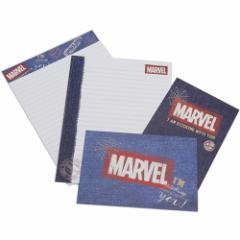 MARVEL レターセット 手紙セット ヴィンテージデニム マーベル 便箋 封筒 キャラクター グッズ メール便可