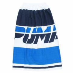 PUMA プーマ ラップタオル 80cm 巻きタオル ブルー 海 プール サマーレジャー スポーツブランド グッズ