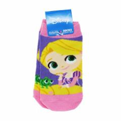 塔の上のラプンツェル 子供用 靴下 キッズ ソックス ラプンツェル&パスカル アップ ディズニープリンセス 13〜18cm メール便可