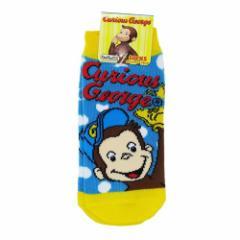 おさるのジョージ 子供用 靴下 キッズ ソックス ベースボール 13〜18cm キャラクター グッズ メール便可