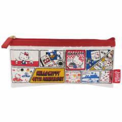 ハローキティ 筆箱 ビニール クリアポーチ S 45周年 コミック サンリオ 19.5×9×1cm キャラクター グッズ メール便可