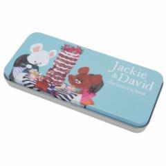 くまのがっこう 缶 ペンケース キャラ カンペン ジャッキー&デイビット02 新学期準備雑貨 絵本キャラクター グッズ