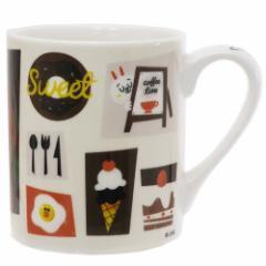 ラインフレンズ マグカップ 陶磁器製 MUG ブラウン カフェ LINE FRIENDS かわいい キャラクター グッズ