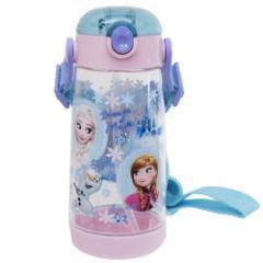 アナと雪の女王 水筒 ワンプッシュ クリア ストローボトル FROZEN 19 ディズニー 480ml キャラクター グッズ