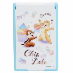 チップ&デール 手鏡 折りたたみ カード ミラー S 2019SS ディズニー 5.5×8.5cm キャラクター グッズ メール便可