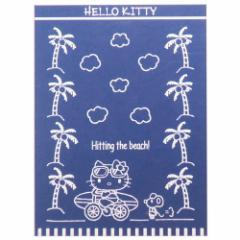 ハローキティ 夏用 寝具 ビッグ タオルケット レトロサーフリボン スタジオジブリ 140×190cm キャラクター グッズ