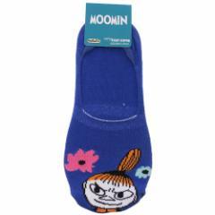 ムーミン 女性用 靴下 レディース フットカバー リトルミイ フラワー 北欧 23〜25cm キャラクター グッズ メール便可