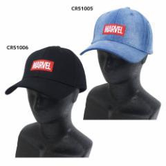 MARVEL つば付き 帽子 ベースボール カーブ キャップ ボックスロゴ マーベル 男女兼用 キャラクター グッズ
