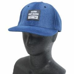 チュッパチャプス つば付き 帽子 ベースボール カーブ キャップ デニム 男女兼用 キャラクター グッズ