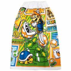 スーパーマリオ ラップタオル 80cm丈 巻きタオル 2019SS nintendo サマーレジャー用品 ゲームキャラクター グッズ